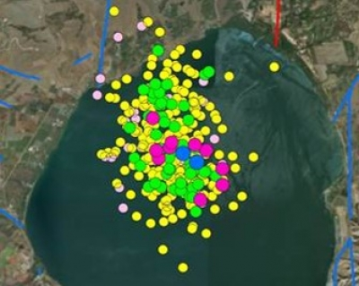 Earthquake swarm in Northern Kinneret, Israel